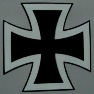 Kreuz 2 farbig mit schwarzen Rand